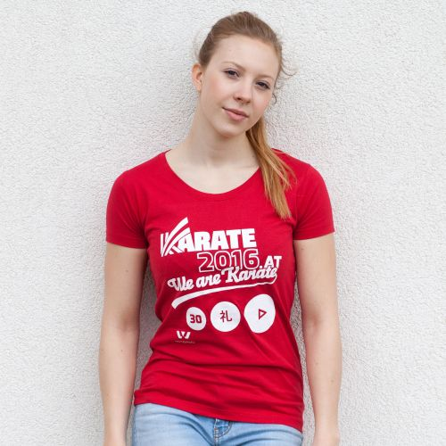 KARATE 2016 T-Shirt Damen rot